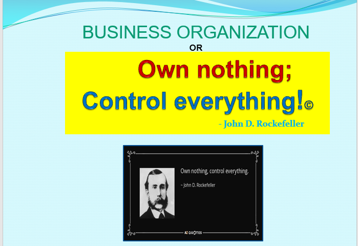 VIDEO WEBINAR: OWN NOTHING BUT CONTROL EVERYTHING